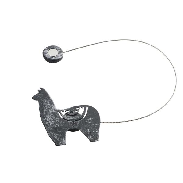 Δέστρα Κουρτίνας Με Μαγνήτη Yzma Black/Silver 1900461