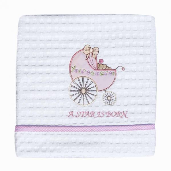 Κουβέρτα Πικέ Κούνιας Morven Stroller 548 Pink