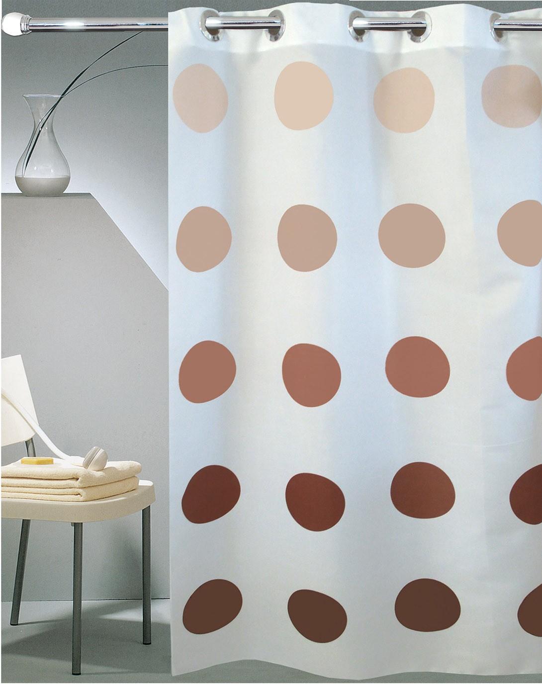 Κουρτίνα Μπάνιου (180x180) Με Τρουκς San Lorentzo Moon White
