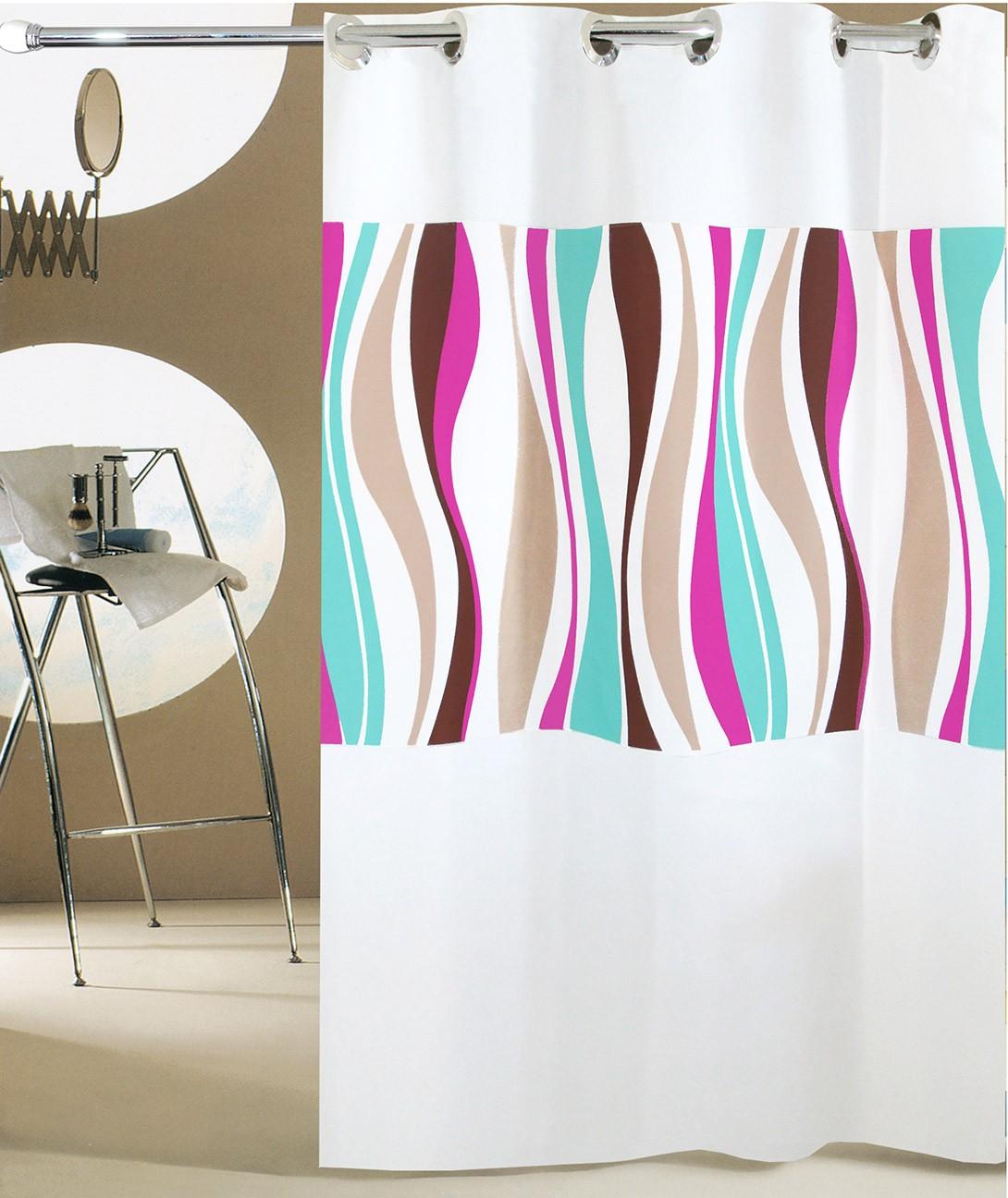 Κουρτίνα Μπάνιου (180x180) Με Τρουκς San Lorentzo Waves