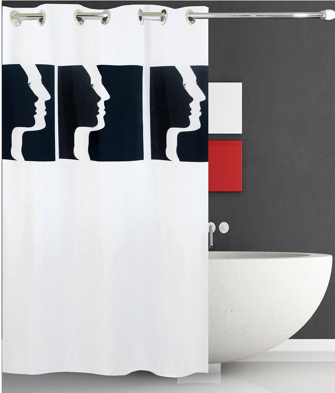 Κουρτίνα Μπάνιου (180x180) Με Τρουκς San Lorentzo Faces