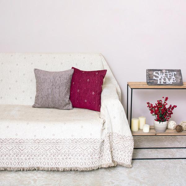Ριχτάρι Πολυθρόνας (180x180) Loom To Room Anka Ivory