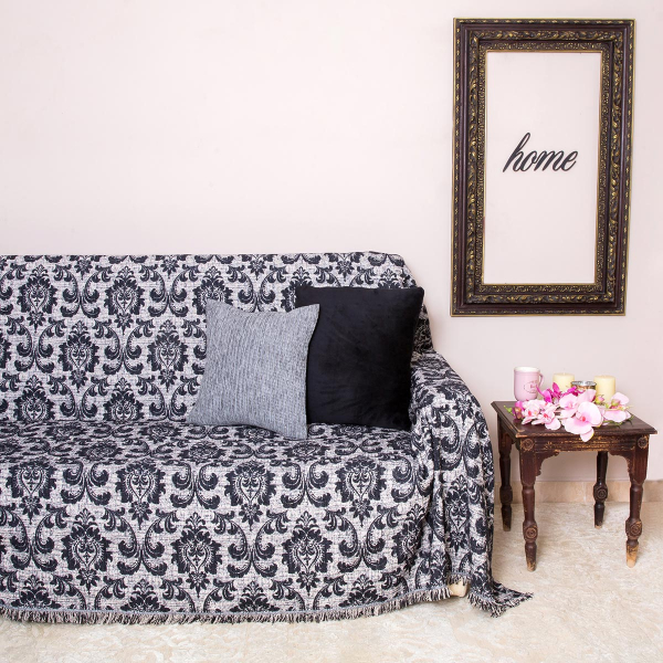 Ριχτάρι Πολυθρόνας (180x180) Loom To Room Barroco Black