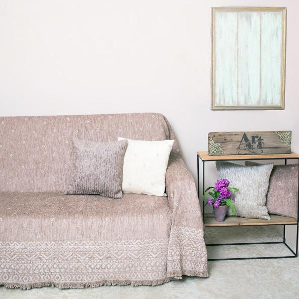 Ριχτάρι Πολυθρόνας (180x180) Loom To Room Anka Mocca