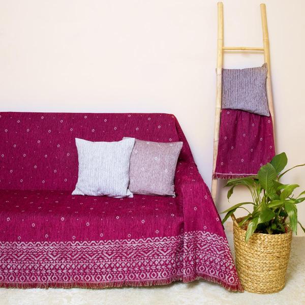 Ριχτάρι Πολυθρόνας (180x180) Loom To Room Anka Bordo