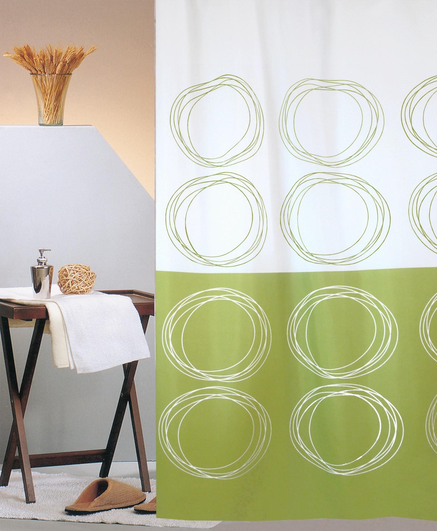 Κουρτίνα Μπάνιου (180x180) San Lorentzo Duett Green