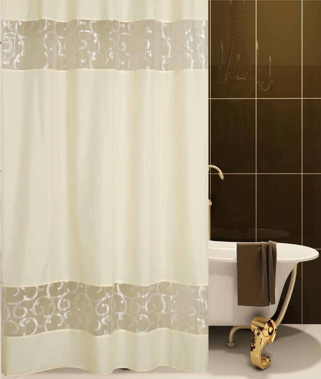Κουρτίνα Μπάνιου (180×180) San Lorentzo SC007 Beige