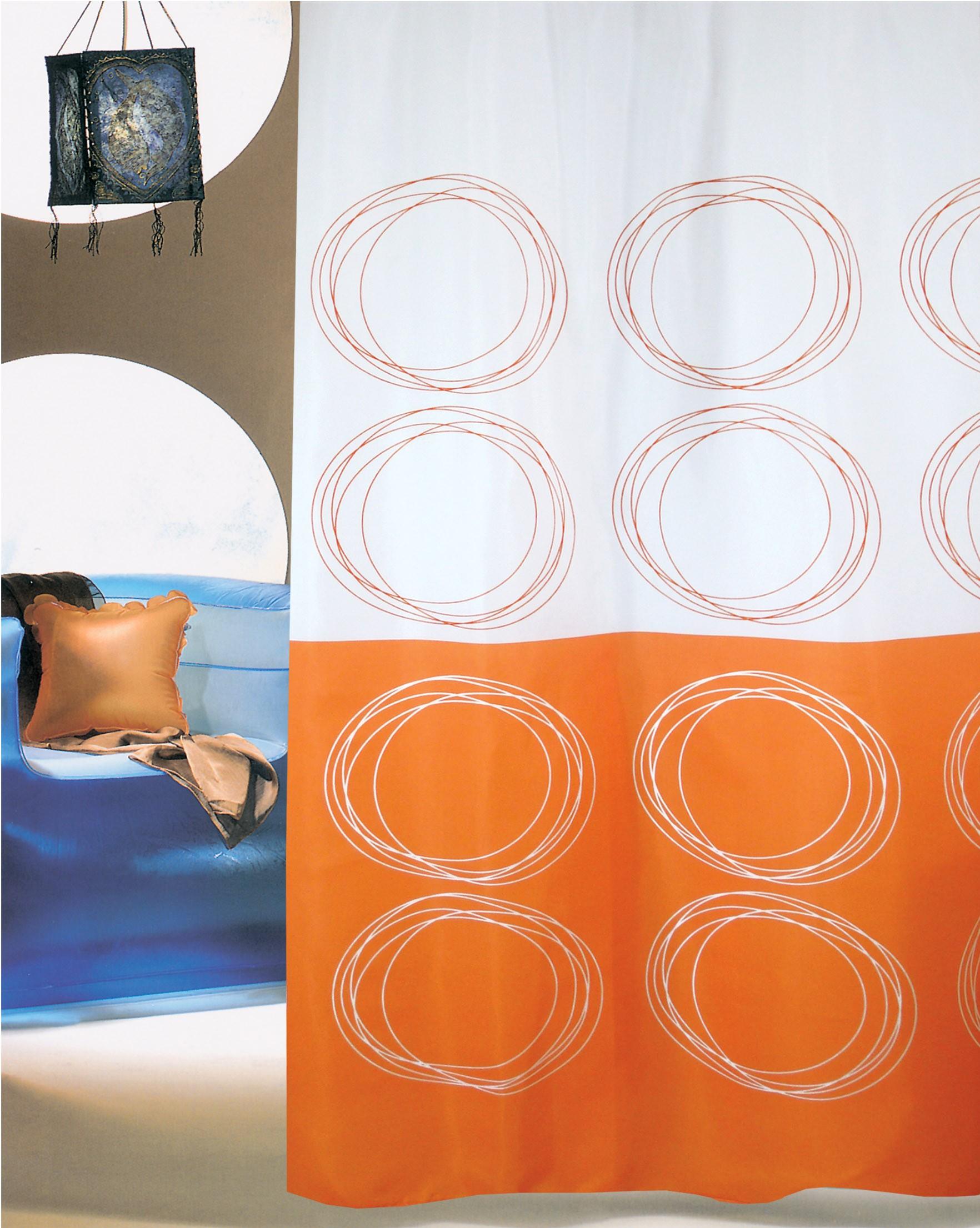 Κουρτίνα Μπάνιου (180×180) San Lorentzo Duett Orange