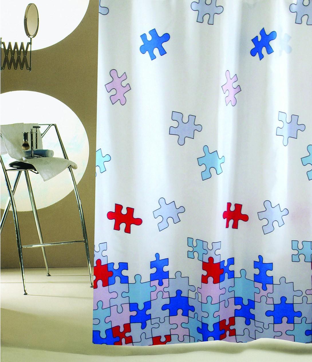 Κουρτίνα Μπάνιου (180×200) San Lorentzo Puzzle