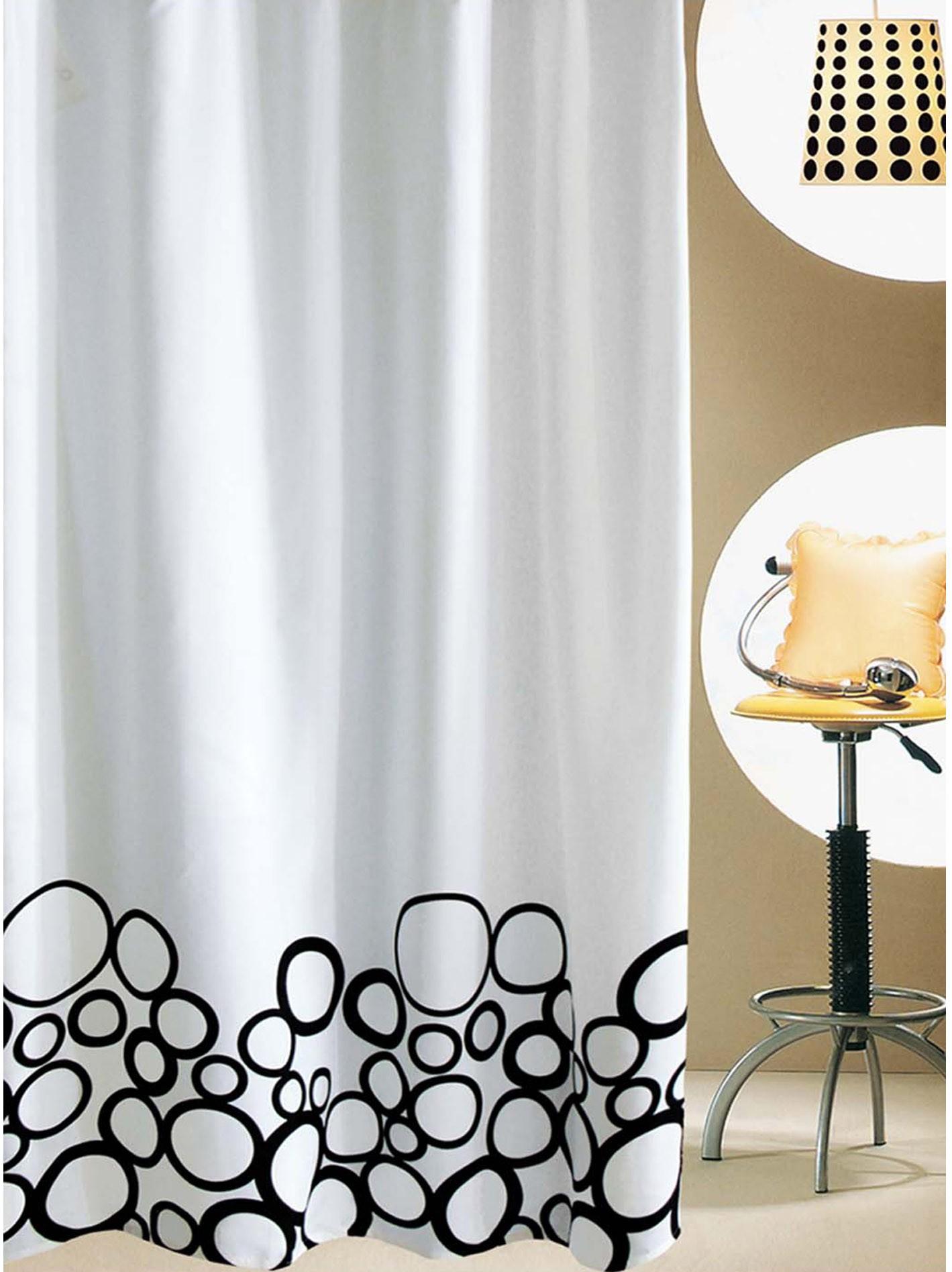 Κουρτίνα Μπάνιου (180x200) San Lorentzo Bubbles Black