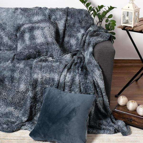 Γούνινο Ριχτάρι Πολυθρόνας (180x180) Silk Fashion Astrakan Grey