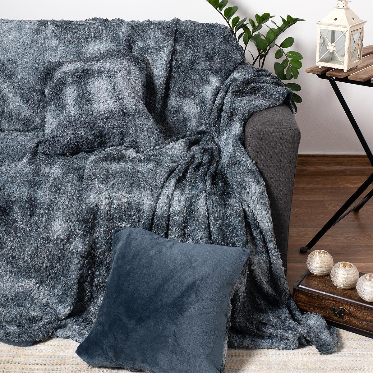 Γούνινο Ριχτάρι Πολυθρόνας (180×180) Silk Fashion Astrakan Grey