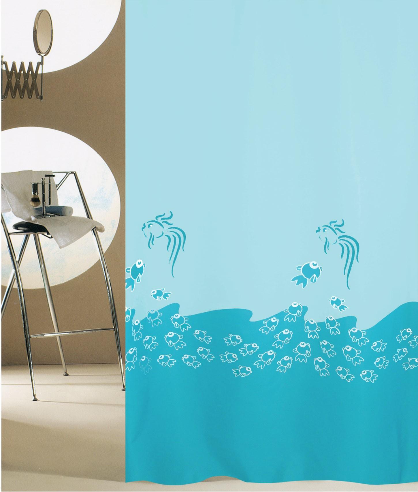 Κουρτίνα Μπάνιου (180x200) San Lorentzo Happy Fish