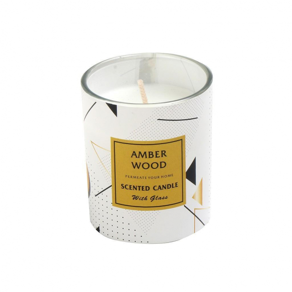 Αρωματικό Κερί 90gr Espiel Amber Wood COC111