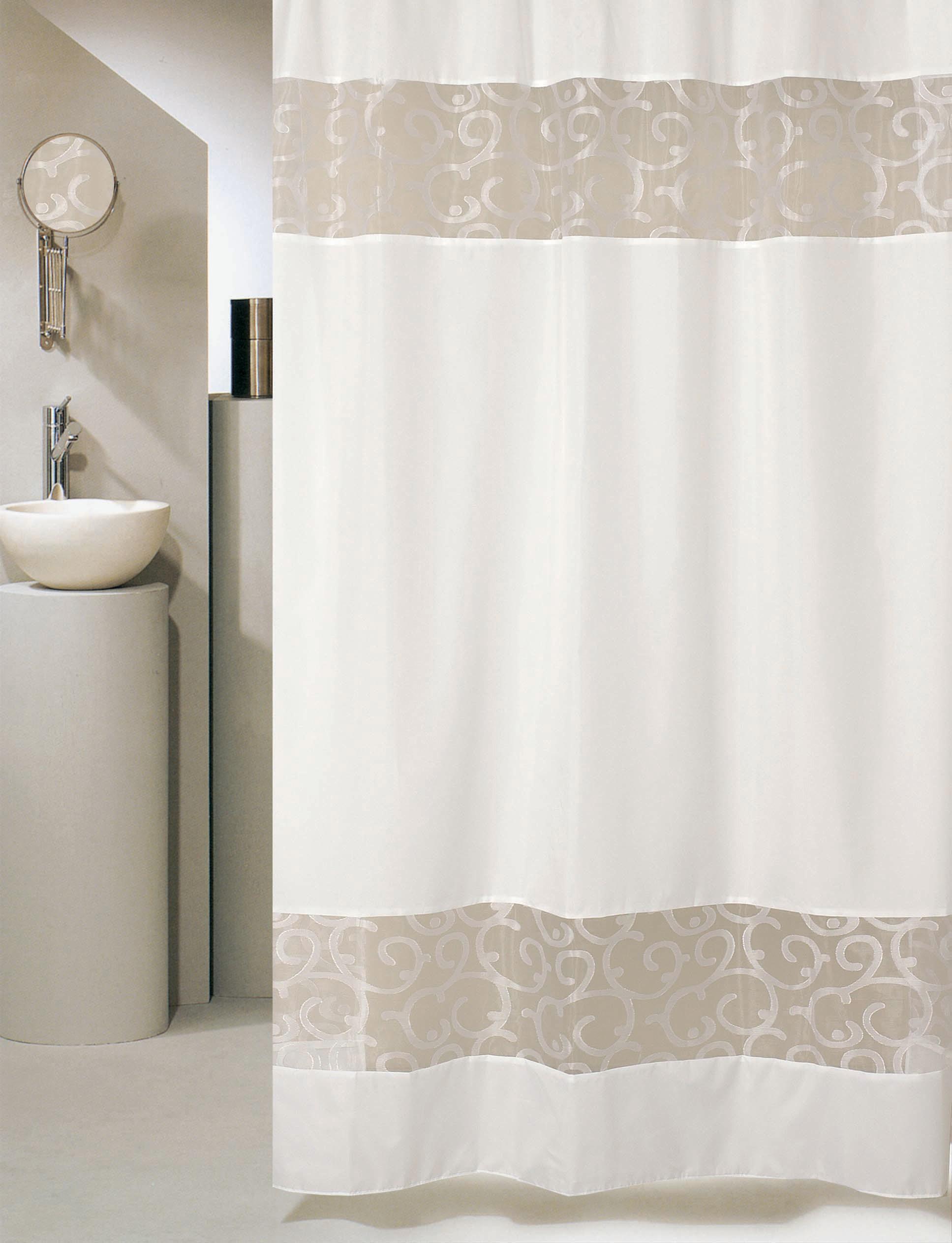 Κουρτίνα Μπάνιου (240×180) San Lorentzo SC007 White