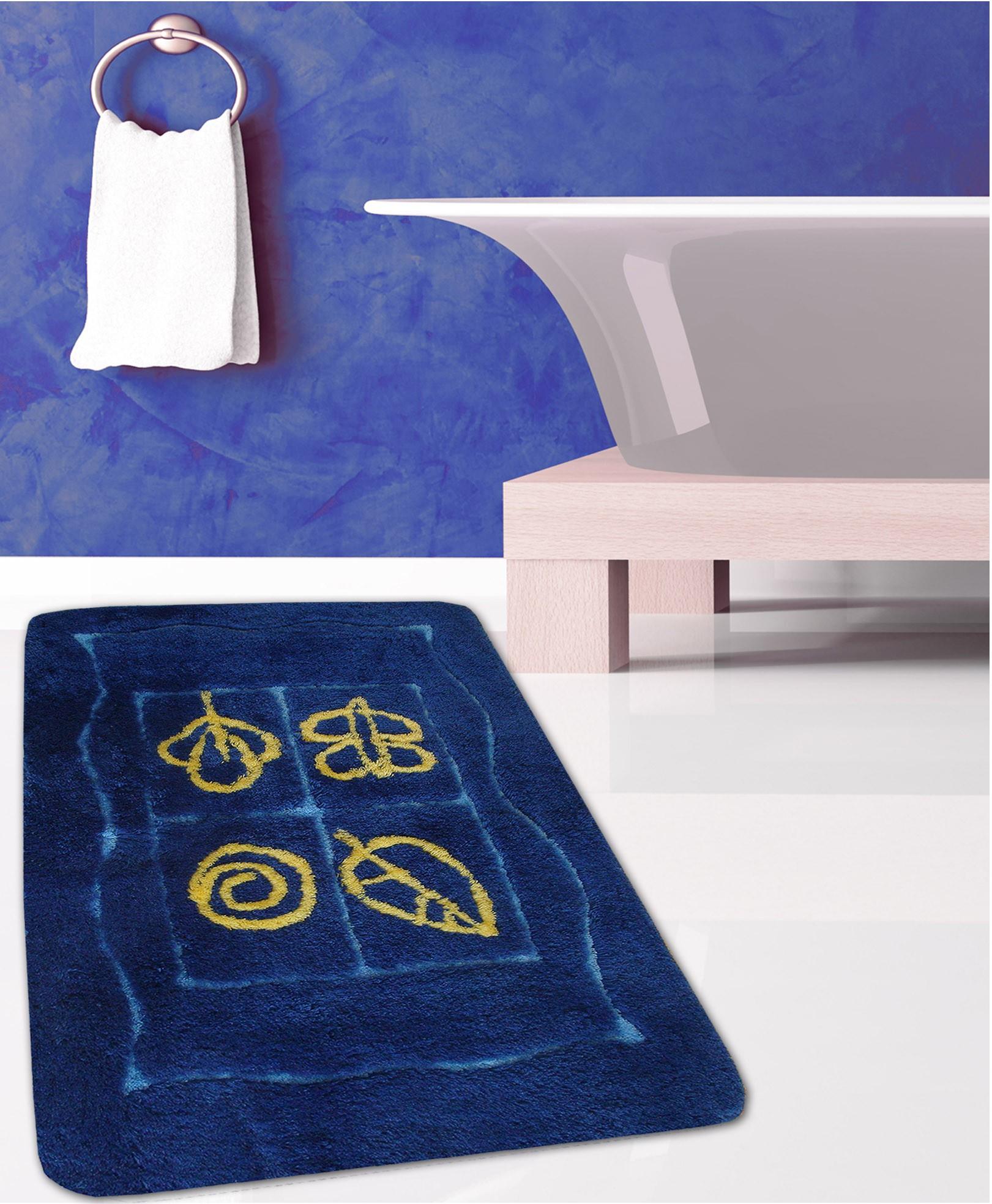 Πατάκι Μπάνιου (60x100) San Lorentzo Fantasia Blue