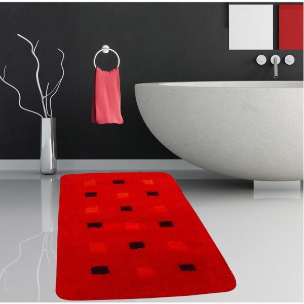 Πατάκι Μπάνιου (60x100) San Lorentzo Mosaic Red
