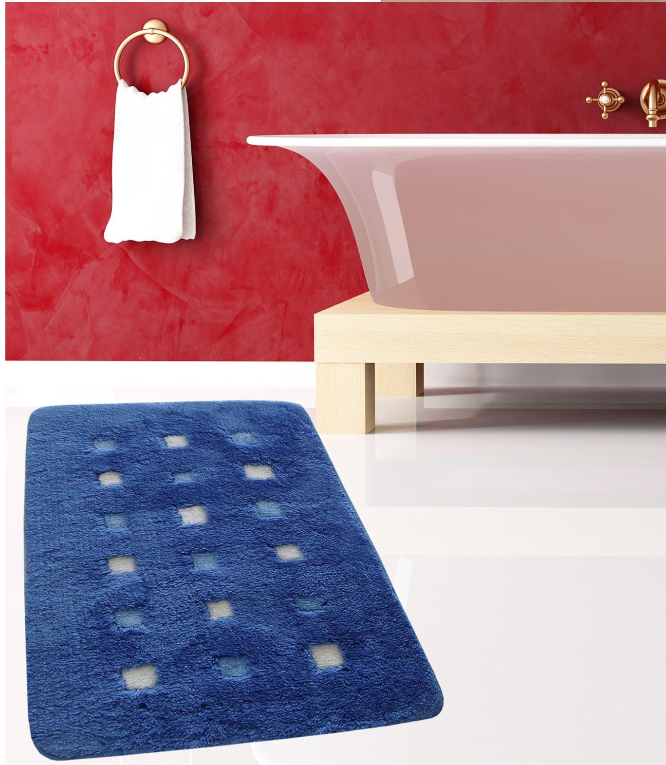 Πατάκι Μπάνιου (60x100) San Lorentzo Mosaic Blue