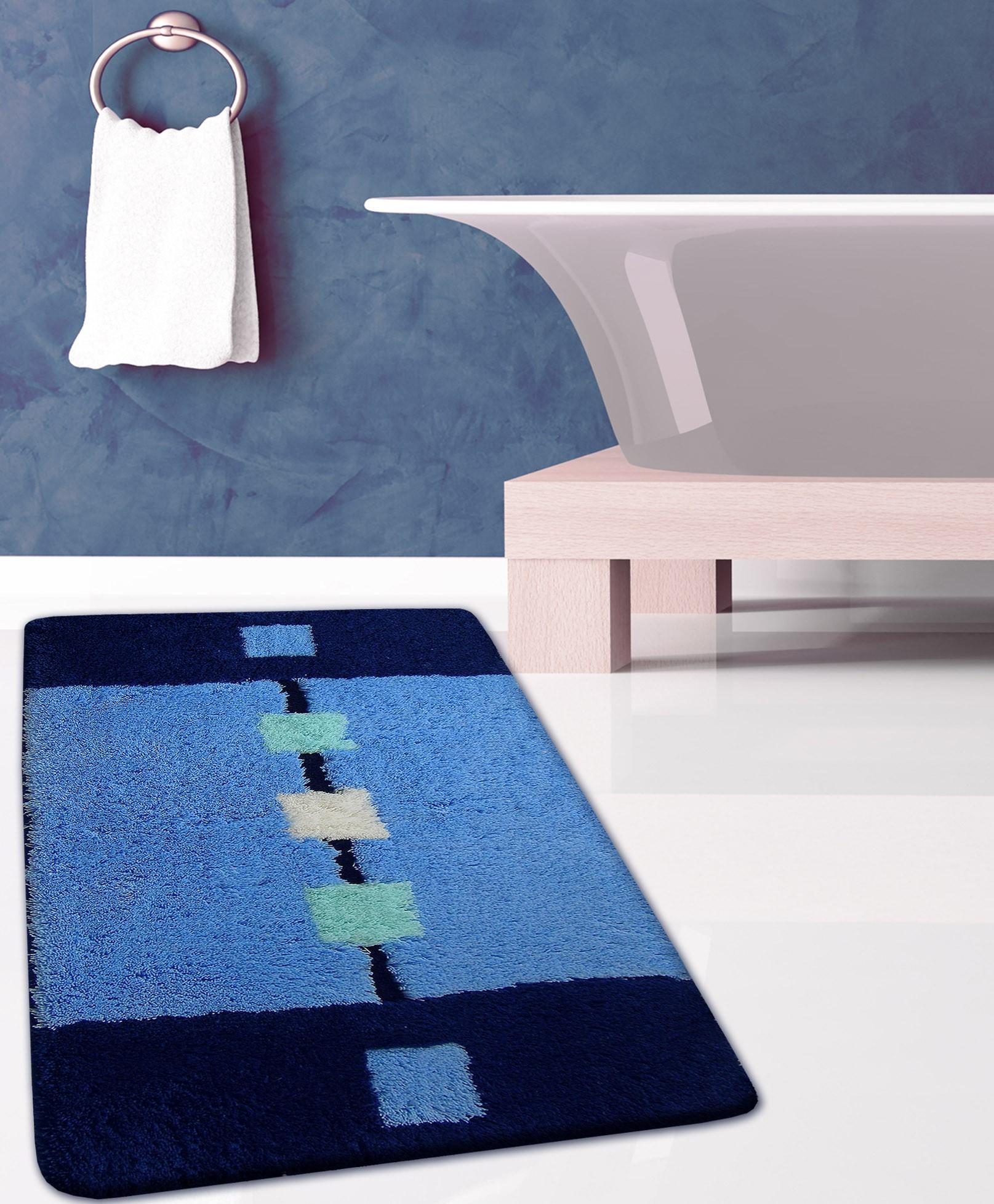 Πατάκι Μπάνιου (60x100) San Lorentzo FL-06044 Μπλε