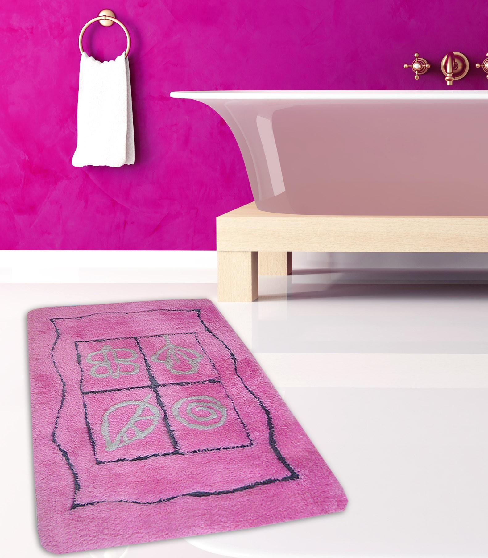Πατάκι Μπάνιου (60x100) San Lorentzo Fantasia Pink