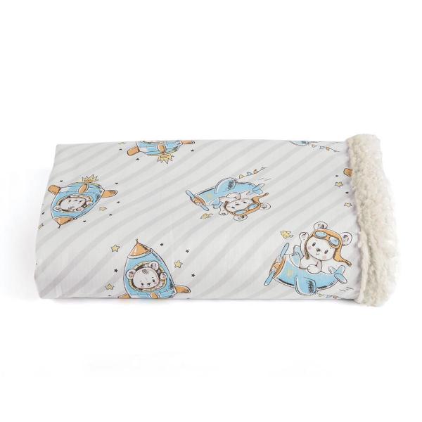 Κουβέρτα Κούνιας Με Γουνάκι Kentia Baby Gagarin