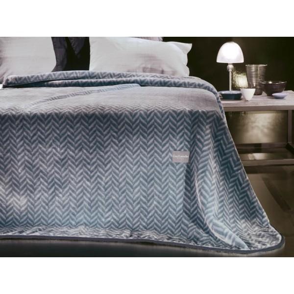 Κουβέρτα Βελουτέ Μονή Guy Laroche Prive Silver