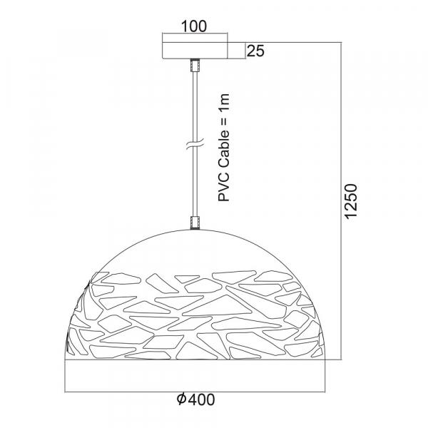 Φωτιστικό Οροφής Μονόφωτο Aca KS191940W White