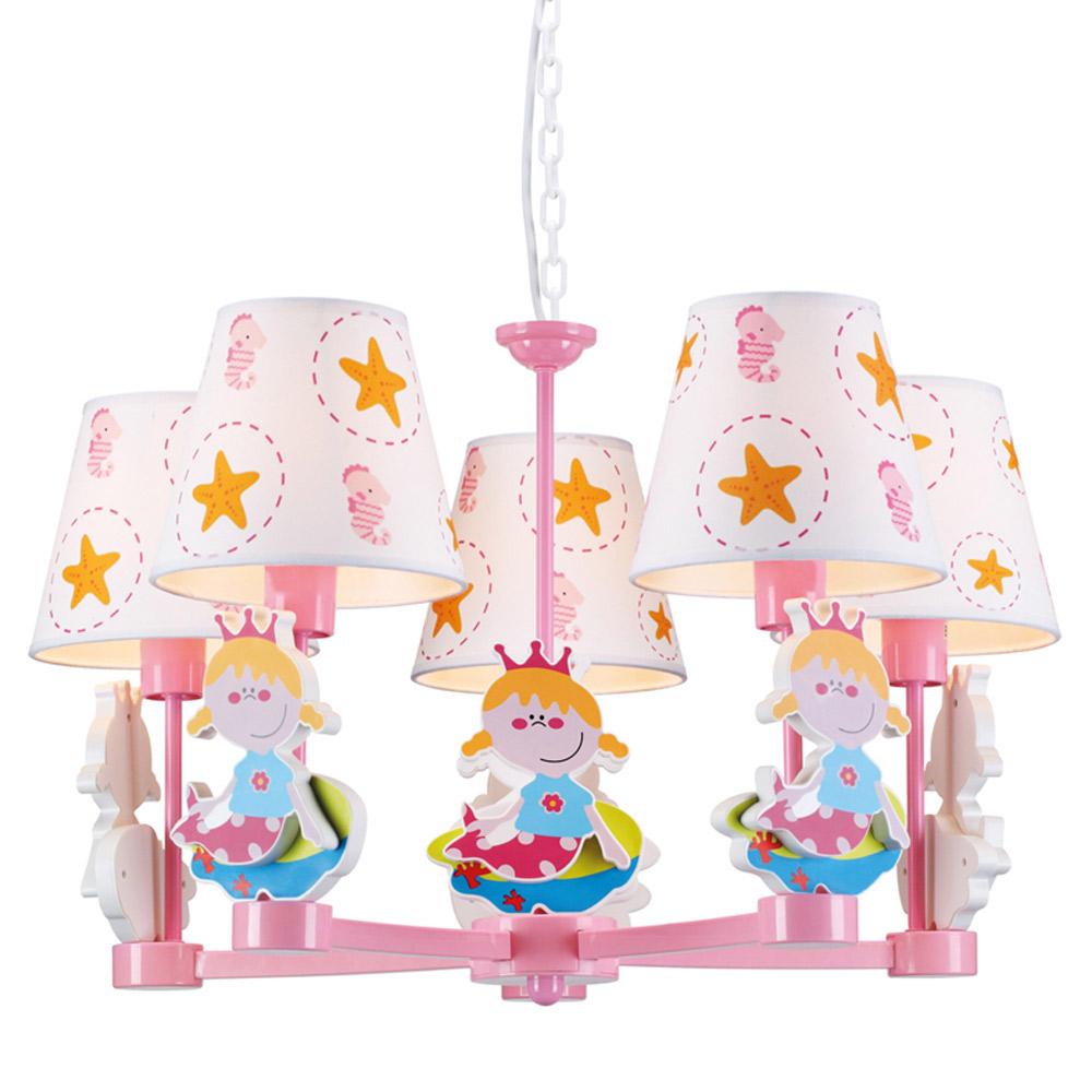 Παιδικό Φωτιστικό Οροφής Πολύφωτο Aca MD04515A Pink