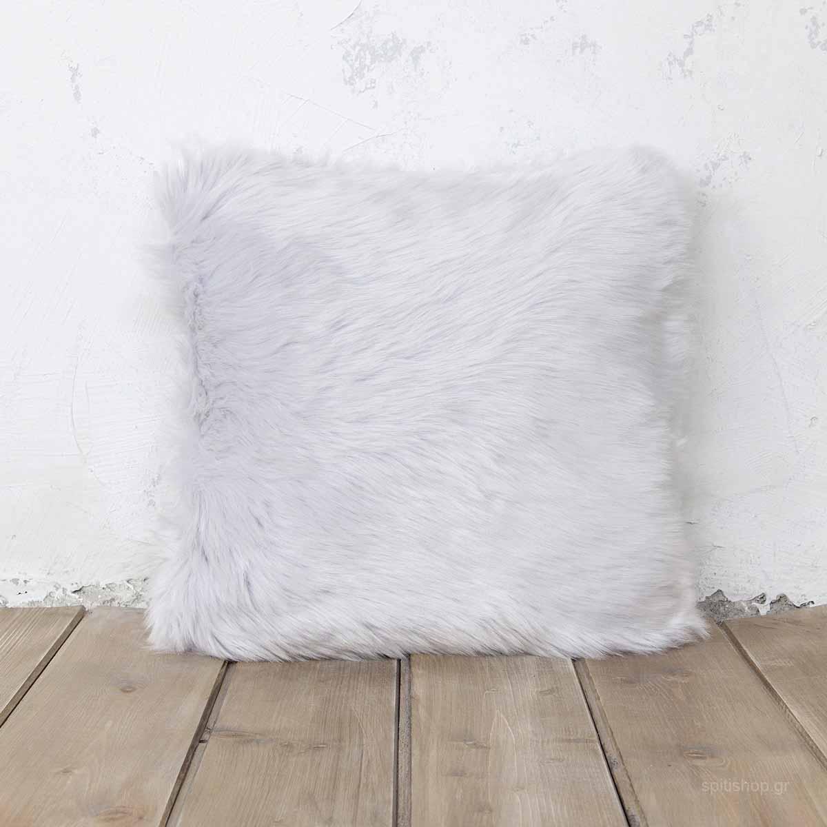 Διακοσμητικό Μαξιλάρι (45×45) Nima Throws Velvet Grey