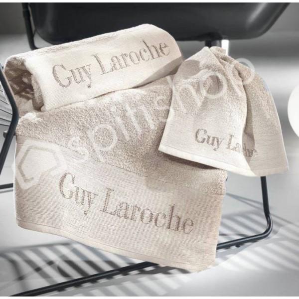 Πετσέτες Μπάνιου (Σετ 3τμχ) Guy Laroche Graffiti Ivory