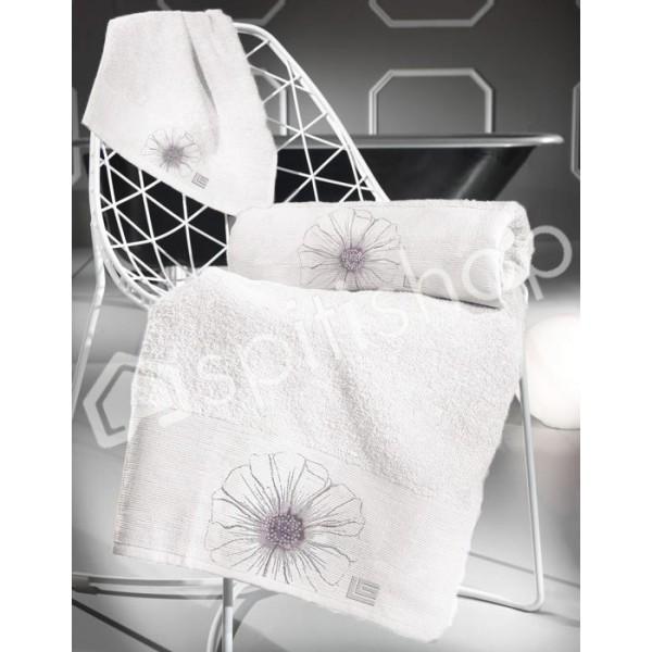 Πετσέτες Μπάνιου (Σετ 3τμχ) Guy Laroche Petal Flower White