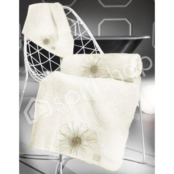 Πετσέτες Μπάνιου (Σετ 3τμχ) Guy Laroche Petal Flower Ivory