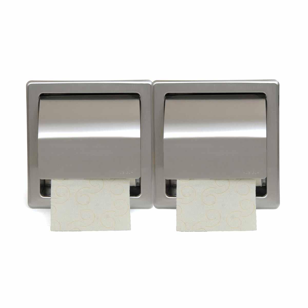 Χαρτοθήκη 2 Θέσεων Με Καπάκι PamCo 110-025 Satine Nickel