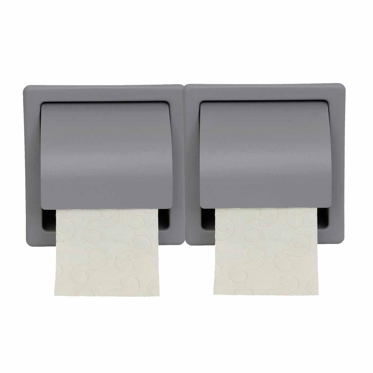 Χαρτοθήκη 2 Θέσεων Με Καπάκι PamCo 110-163 Concrete Grey Matte