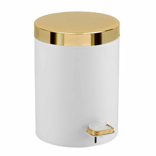 Κάδος Απορριμμάτων (20x28) Pam & Co 5Lit 105 White/Gold