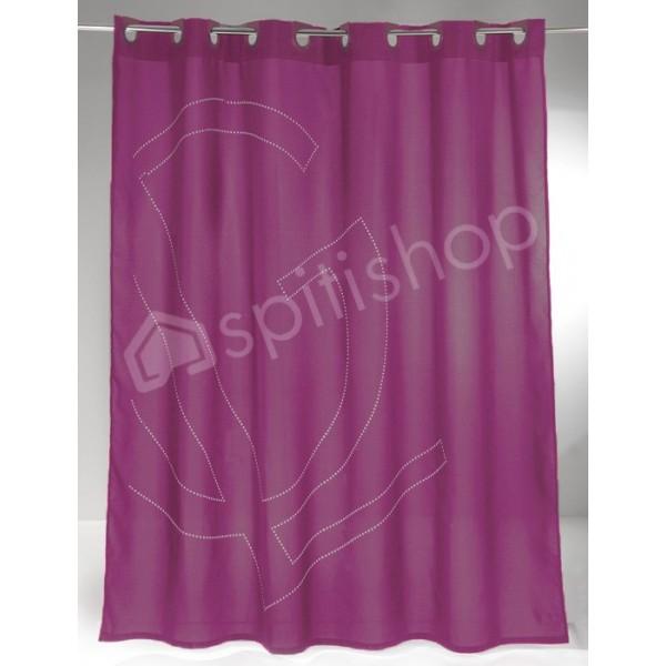 Κουρτίνες Μπάνιου 1+1 Guy Laroche Status Lilac