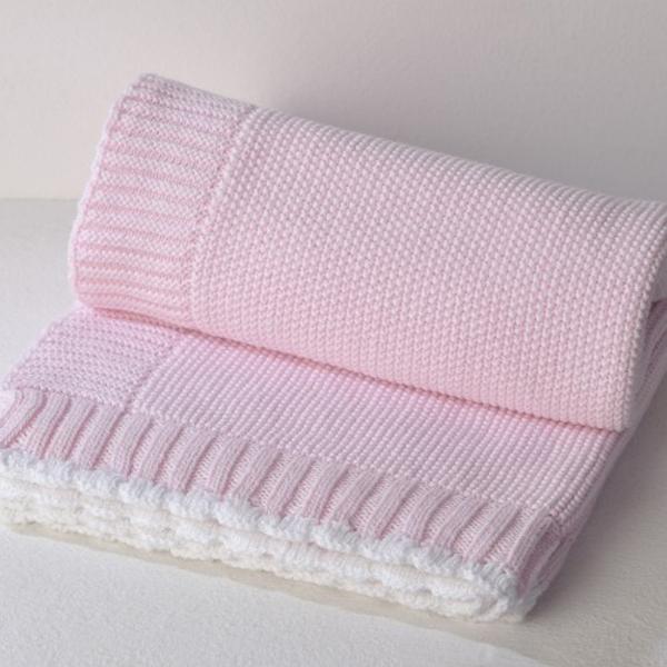 Κουβέρτα Πλεκτή Αγκαλιάς Down Town Imperio 365 Pink