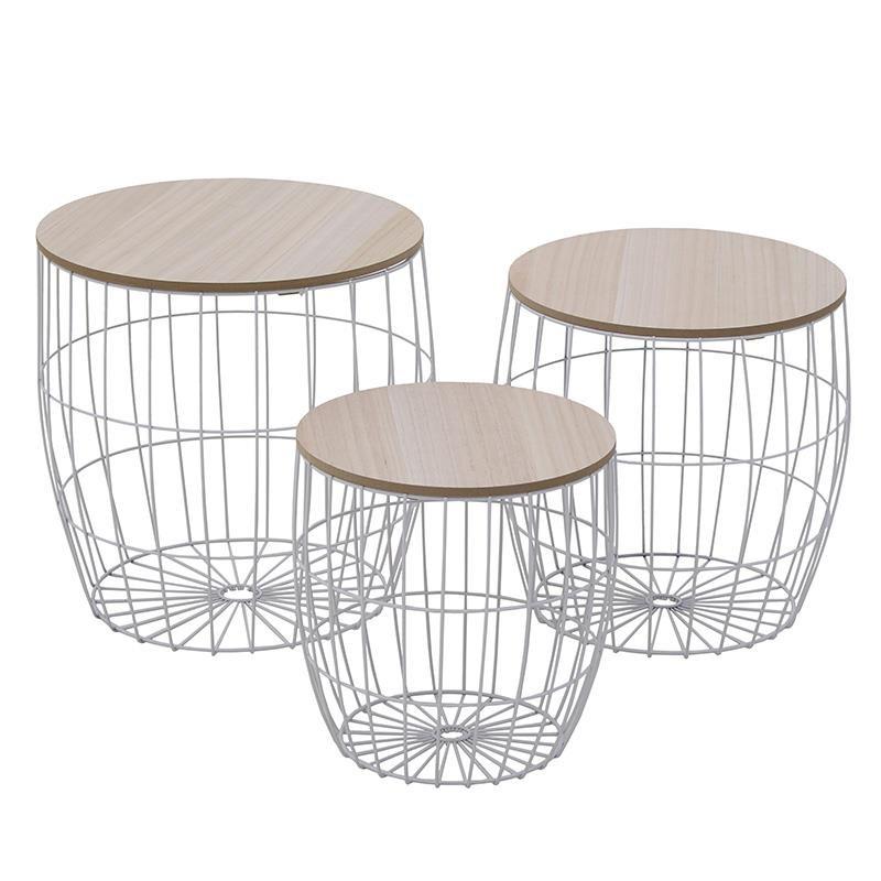 Τραπέζια Σαλονιού (Σετ 3τμχ) InArt 3-50-094-0004