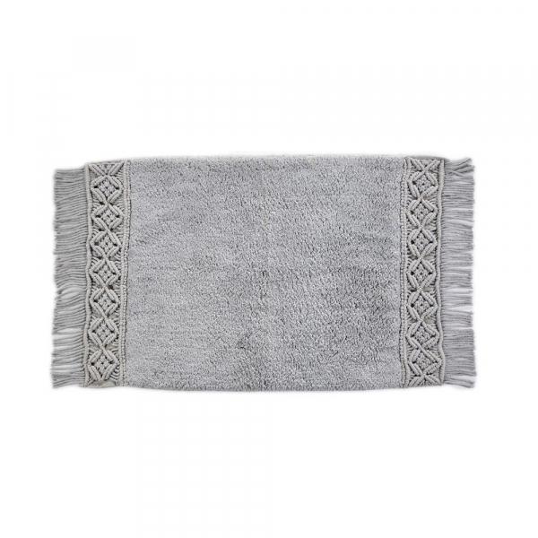 Πατάκι Μπάνιου (50x80) Down Town Macrame Grey