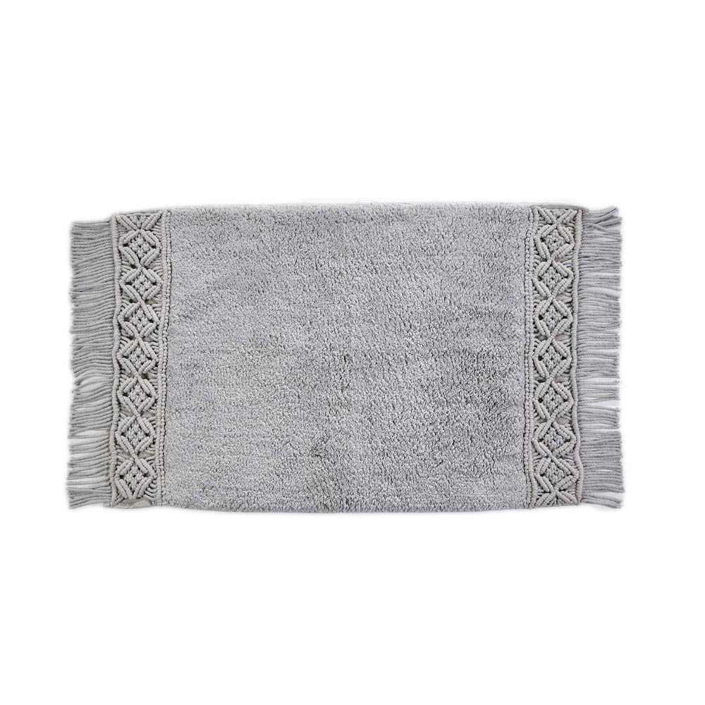 Πατάκι Μπάνιου (50×80) Down Town Macrame Grey