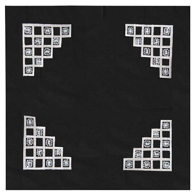 Διακοσμητικό Καρέ InArt Almaz Black 3-40-309-0158