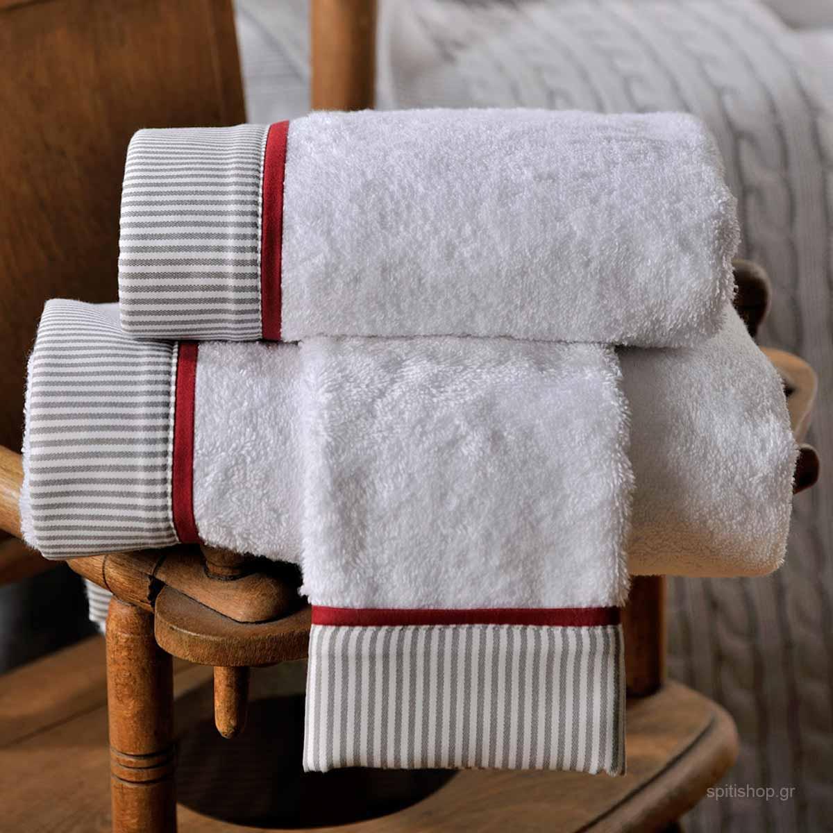 Πετσέτες Μπάνιου (Σετ 3τμχ) Down Town BS 701