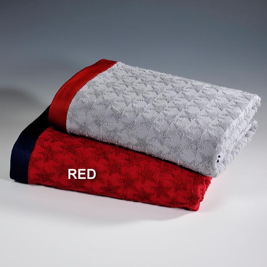 Πετσέτα Θαλάσσης Down Town Star Red