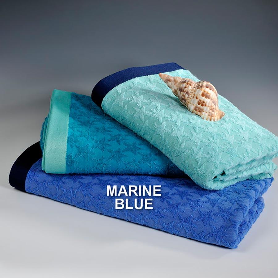 Πετσέτα Θαλάσσης Down Town Star Marine Blue