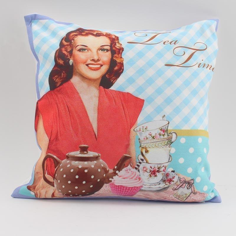 Διακοσμητικό Μαξιλάρι InArt Tea Time 3-40-865-0064