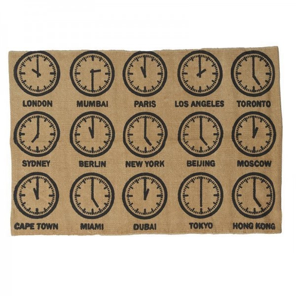 Πατάκι (60x90) InArt World Clocks 0117