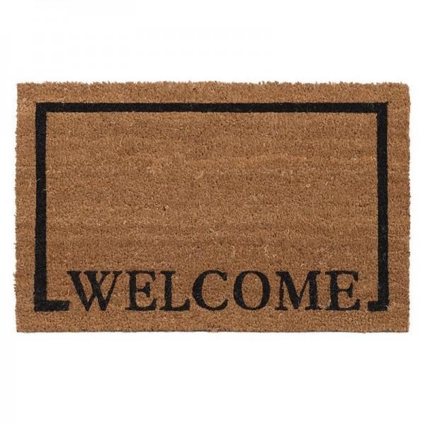 Πατάκι Εισόδου (40x60) Με Πλάτη PVC InArt Welcome Square 0120