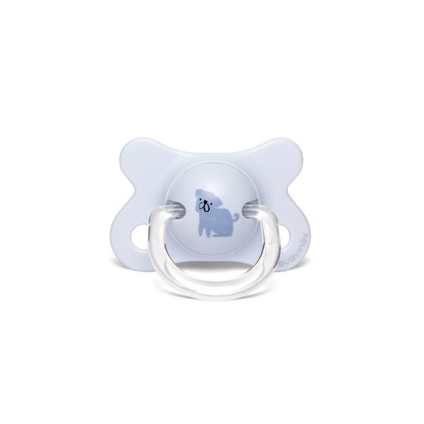Πιπίλα Σιλικόνης Φυσιολογική -2/4Μ Suavinex Dog Blue