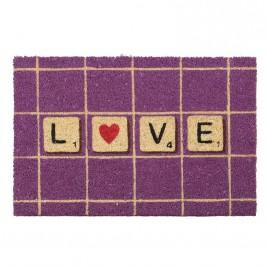 Πατάκι Εισόδου Με Πλάτη PVC InArt Scrabble Love 3-40-803-0123