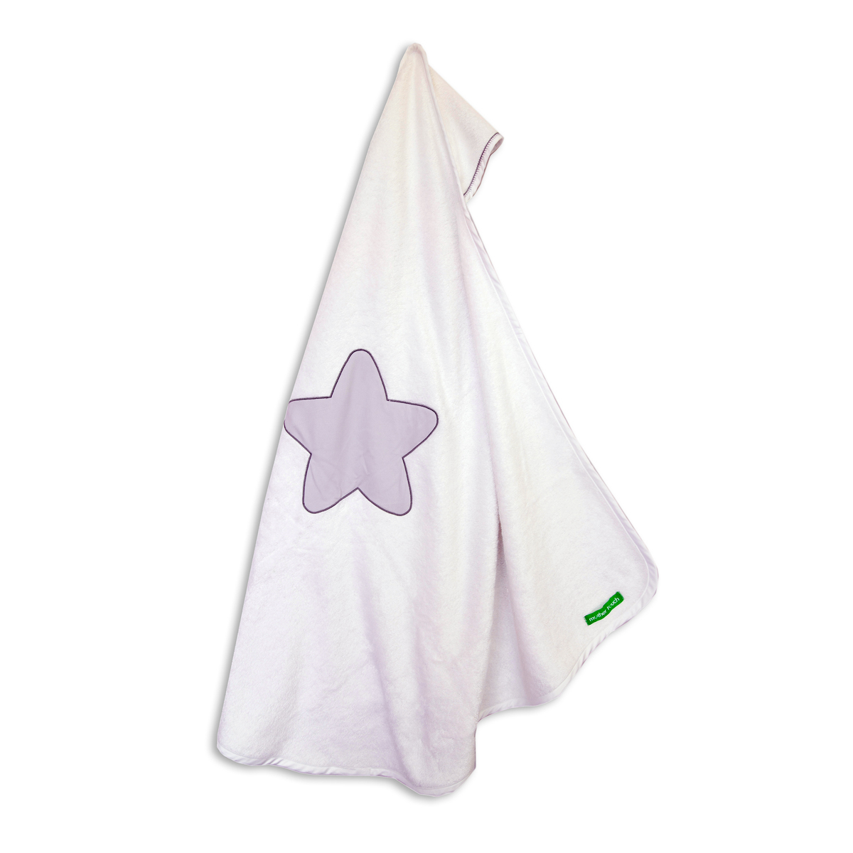 Βρεφική Κάπα Mother Touch Star Embroidery Grey